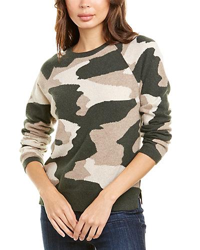 Rue La La — Scott & Scott London Camo Lurex Cashmere Sweater