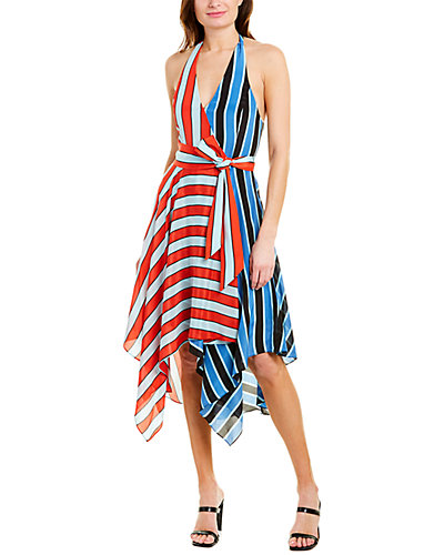 Rue La La — alice + olivia Canton Handkerchief Hem Wrap Dress