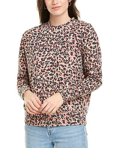 Rue La La — Monrow Animal-Print Boyfriend Sweatshirt
