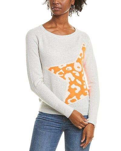 Rue La La — Scott & Scott London Leopard Star Cashmere Sweater