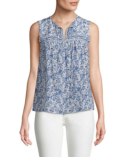 Rebecca Taylor Aimee Silk Floral Top by Rebecca Taylor