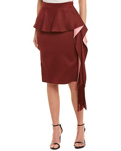 Rue La La — Alexander McQueen Pleated Layered Midi Silk Skirt