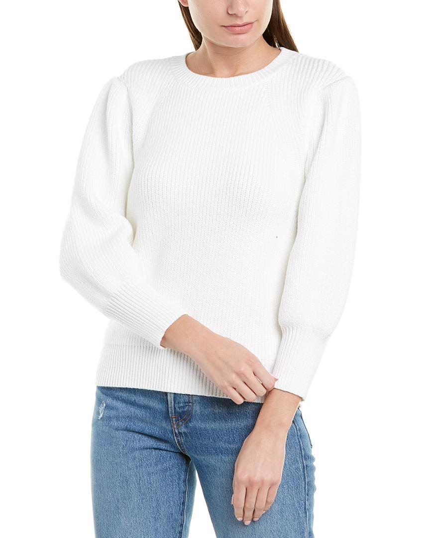 Jason-Wu-Blouson-Sleeve-Sweater-Women-039-s-White-M