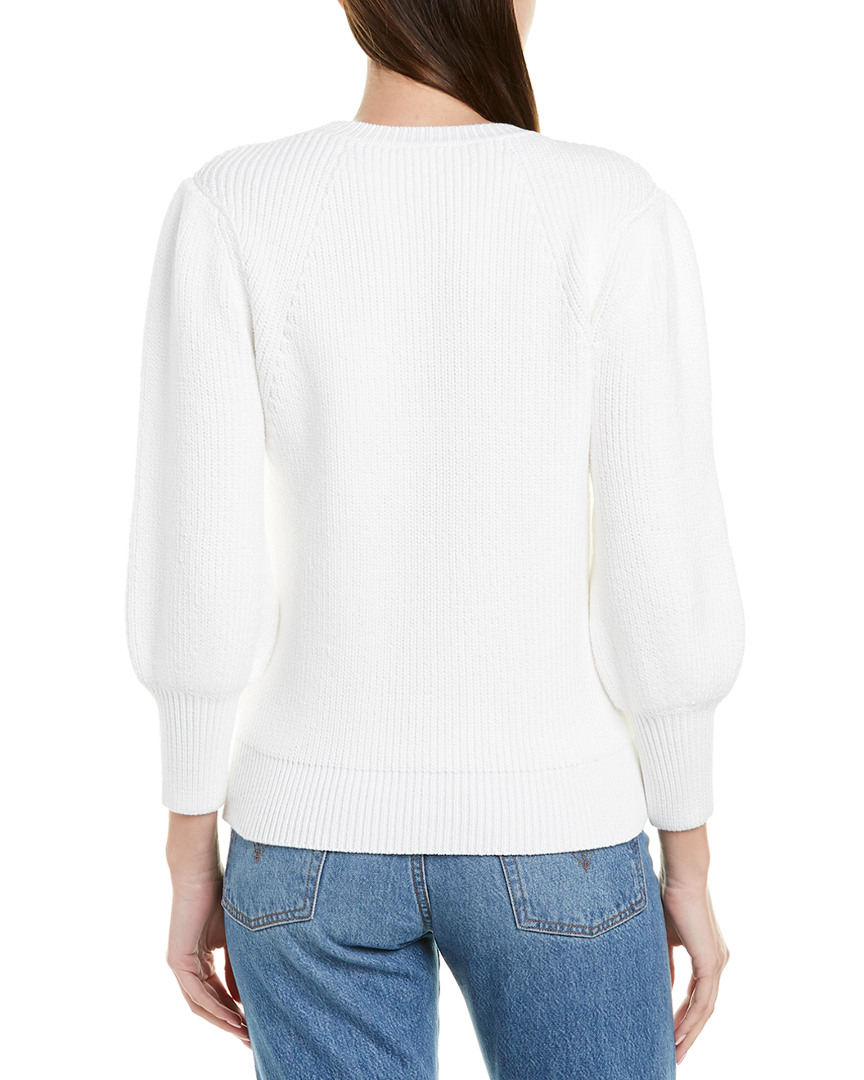 Jason-Wu-Blouson-Sleeve-Sweater-Women-039-s-White-M miniature 2