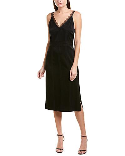 Rue La La — Jason Wu Lace- and Silk-Trim Sheath Dress