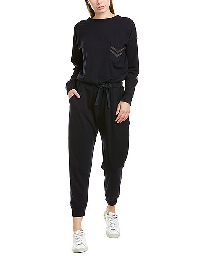 Rue La La — Brunello Cucinelli Surplice Back Wool-Blend Jumpsuit