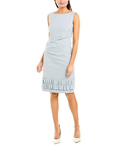 Rue La La — Sara Campbell Linen-Blend Sheath Dress