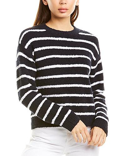 Rue La La — Vince Striped Waffle Stitch Sweater