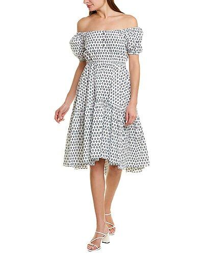 Rue La La — Caroline Constas Bardot Flounce Midi Dress