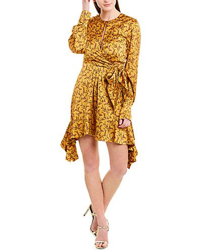 Rue La La — Jonathan Simkhai Keyhole Silk-Blend Dress