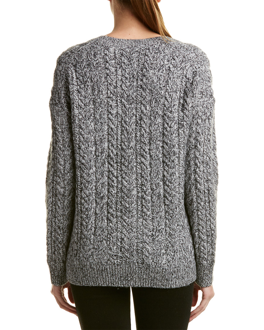Vince Cable-Knit Wool Wool Wool & Cashmere-Blend Sweater 96a97d