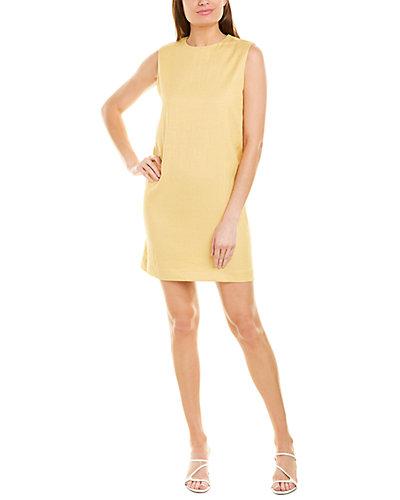 Rue La La — Theory Luxe Linen-Blend Shift Dress