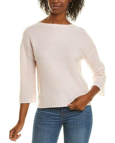 Rue La La — Forte Cashmere Garter Stitch Cashmere Sweater