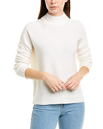Rue La La — Forte Cashmere Mixed Rib Cashmere Sweater