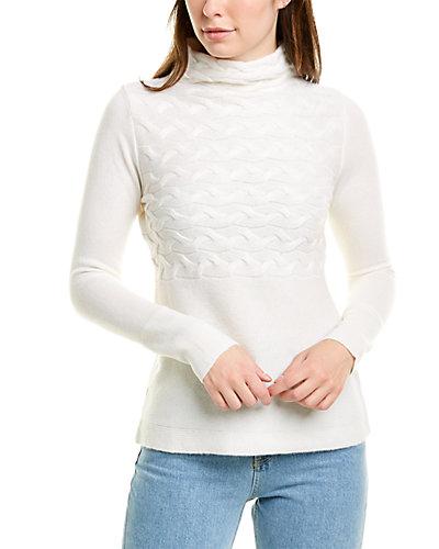 Rue La La — Forte Cashmere Horizontal Cable-Knit Cashmere Sweater
