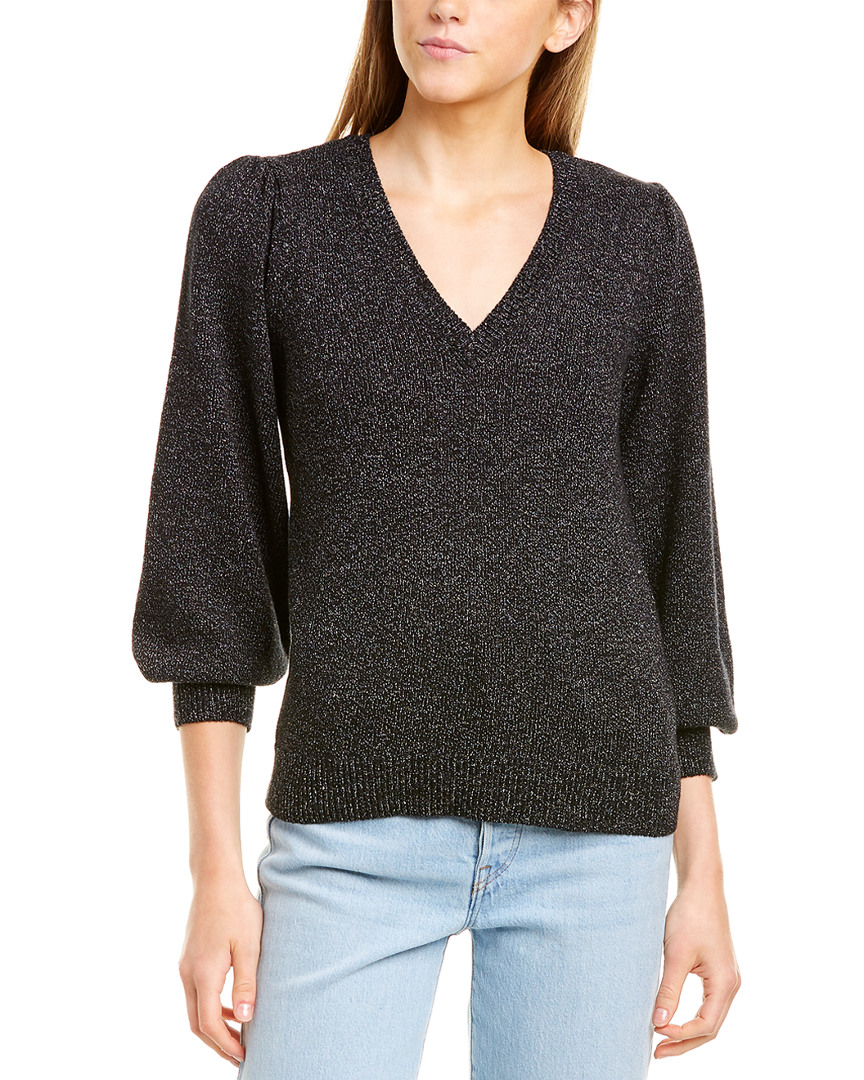 Lilla-P-V-Neck-Sweater-Women-039-s-Black-M