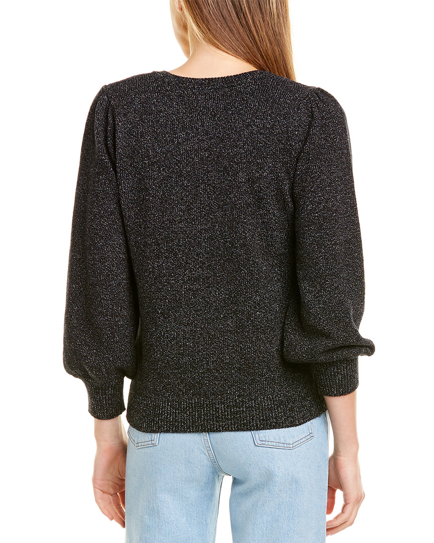 Lilla-P-V-Neck-Sweater-Women-039-s-Black-M miniature 2