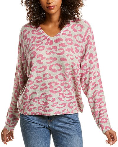 Rue La La — Hannah Rose Leopard Dolman Cashmere Sweater