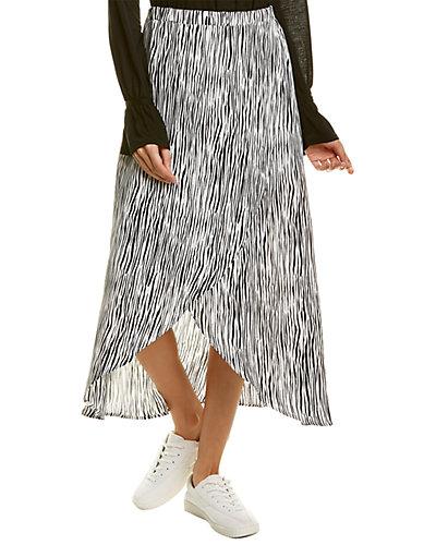 Rue La La — Three Dots Zebra Midi Skirt
