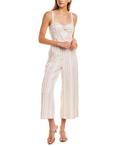 Rue La La — Rebecca Taylor Yarn Dyed Linen Jumpsuit