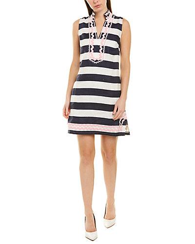 Rue La La — Sail to Sable Linen Tunic Dress