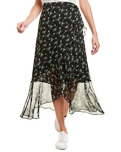 Rue La La — Vince Camuto Ruffled Bouquet Midi Skirt