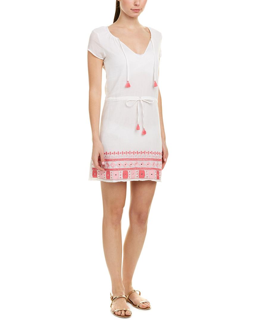 Letarte EMBROIDERED SHIFT DRESS