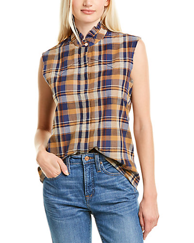 Rue La La — Nili Lotan Feora Linen-Blend Shirt