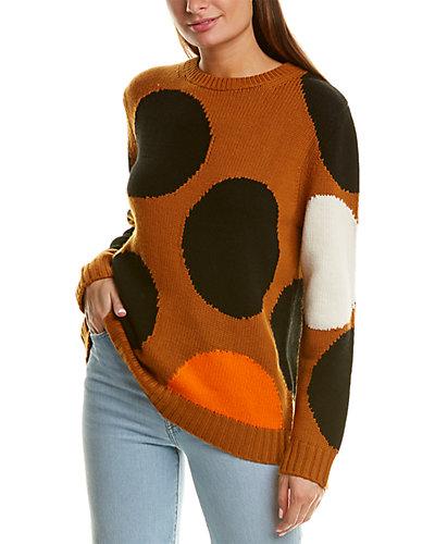 Rue La La — Chinti & Parker Dot Wool & Cashmere-Blend Sweater