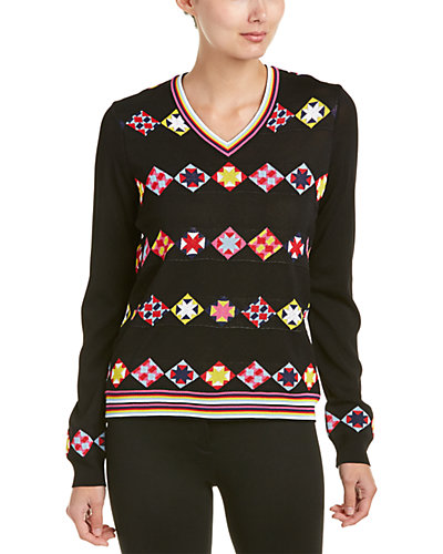Emilio Pucci V-Neck Printed Sweater