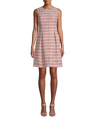 Rue La La — Rebecca Taylor Optic Tweed A-Line Dress