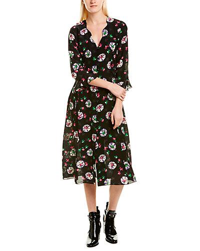 Rue La La — Anna Sui Ballerina Silk A-Line Dress