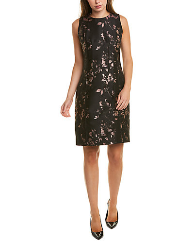 Rue La La — Sara Campbell Metallic Jacquard Sheath Dress