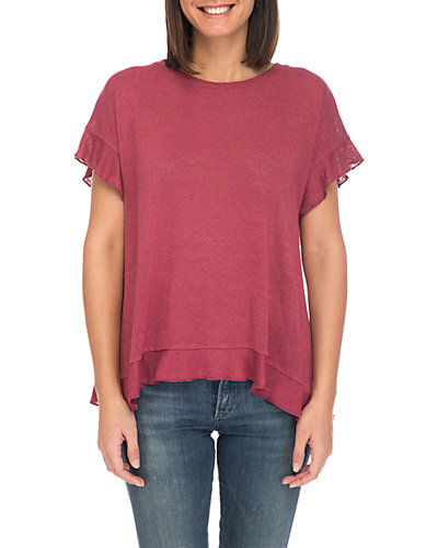 Rue La La — Bobeau Abella Ruffle T-Shirt
