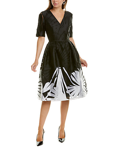Rue La La — Carolina Herrera Silk-Blend Dress