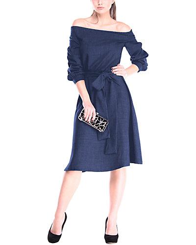 Rue La La — Laura Bettini Linen-Blend Midi Dress