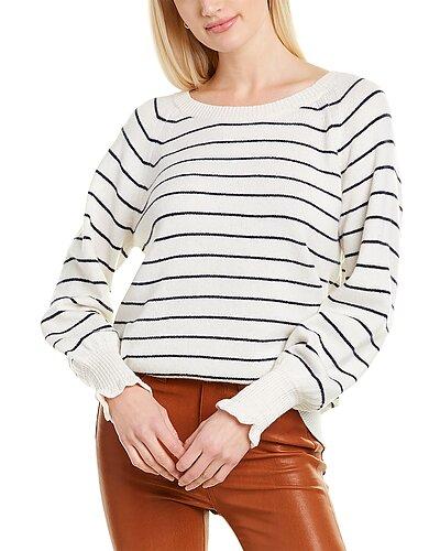 Rue La La — Rebecca Taylor Cozy Stripe Wool-Blend Sweater