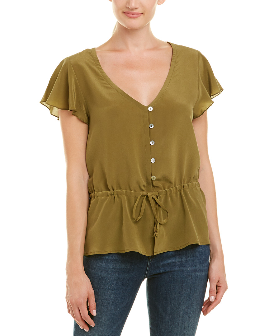 Chaser DRAWSTRING SILK TOP