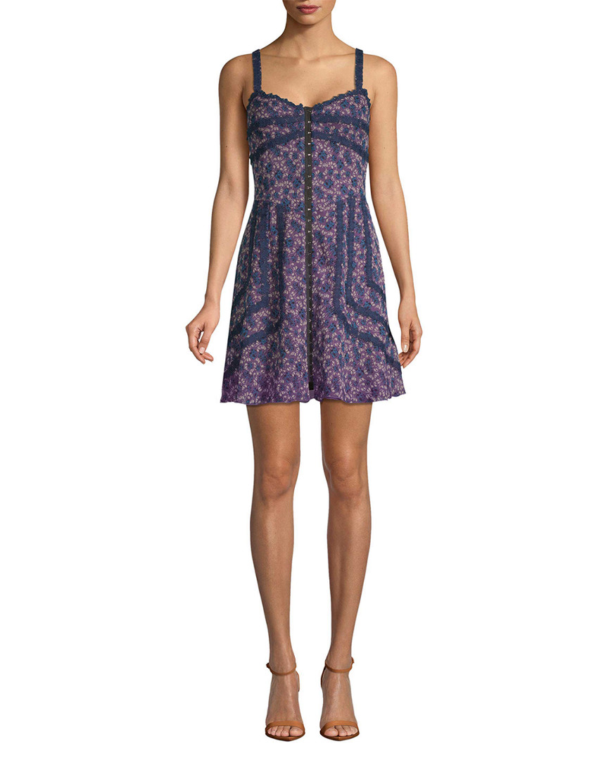 Anna Sui Lilies Of The Valley Crinkle   Garden Silk Dress  4eb7de665