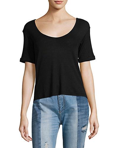 Rue La La — Lot78 Ribbed V-Neck T-Shirt