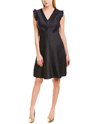 Rue La La — Rebecca Taylor Striped A-Line Dress