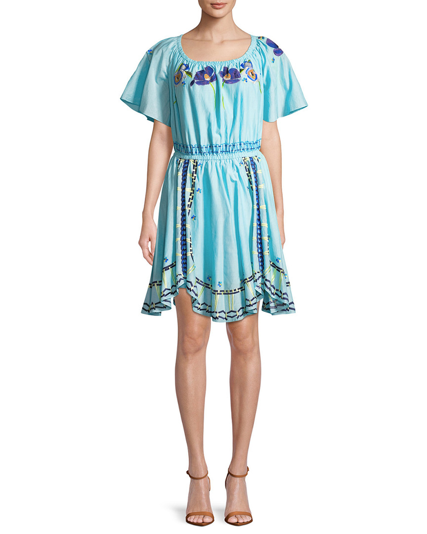 Temperley London AMITY TIE NECK DRESS