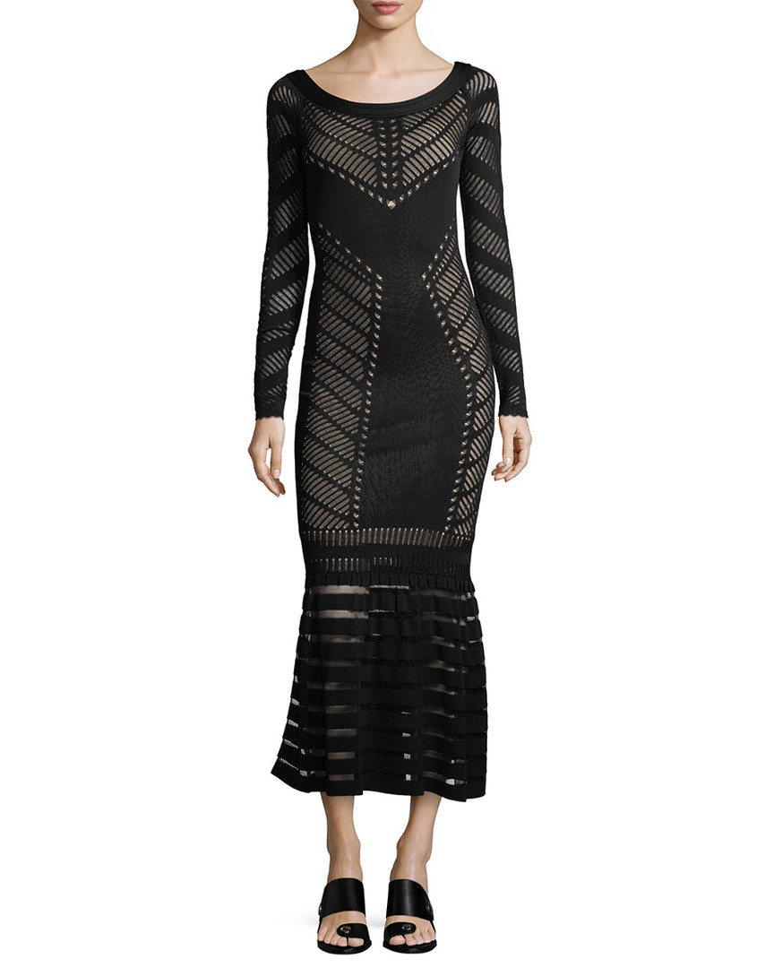 Temperley London ALYSIA KNIT LACE MIDI DRESS