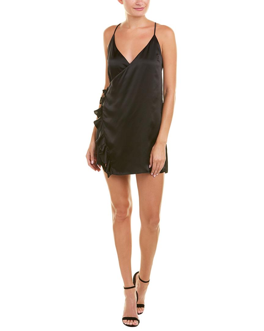 Cami Nyc SATIN SILK WRAP DRESS