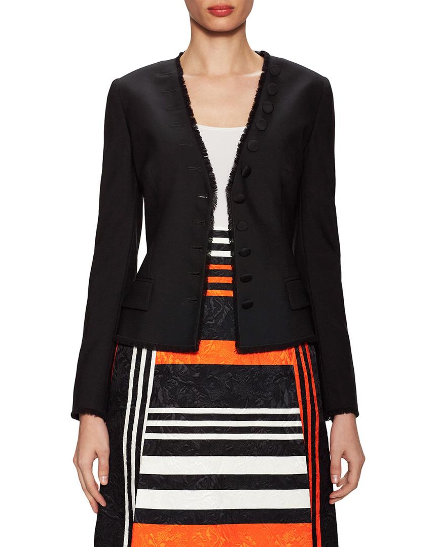 Dolce & Gabbana Wool Fringe Trimmed Jacket 14117813480000