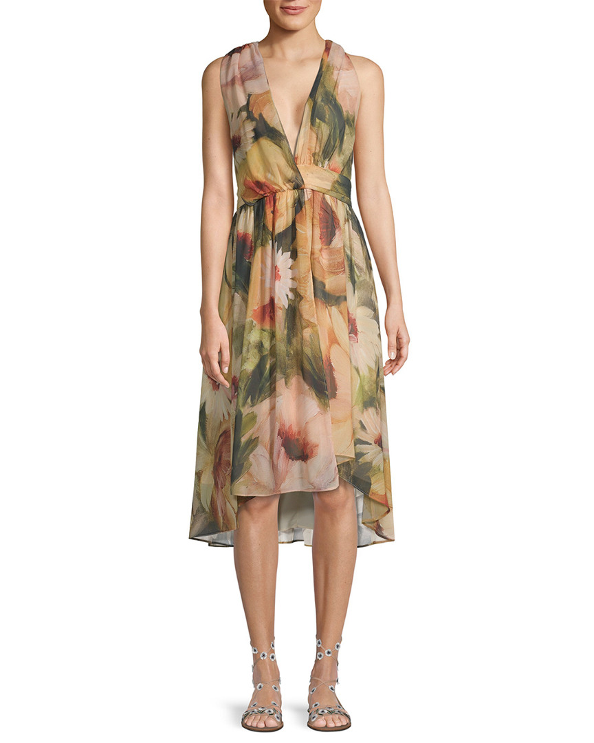 Haute Hippie FLORAL WRAP DRESS