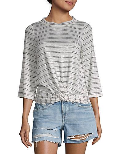 Rue La La — Max Studio Stripe Flare-Sleeve T-Shirt