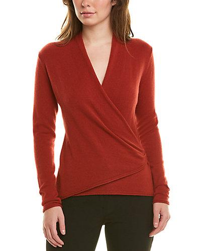 Rue La La — Lafayette 148 New York V-Neck Wrap Front Sweater