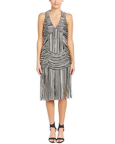 Haute Hippie Trapped And Free Fringe Sheath Dress