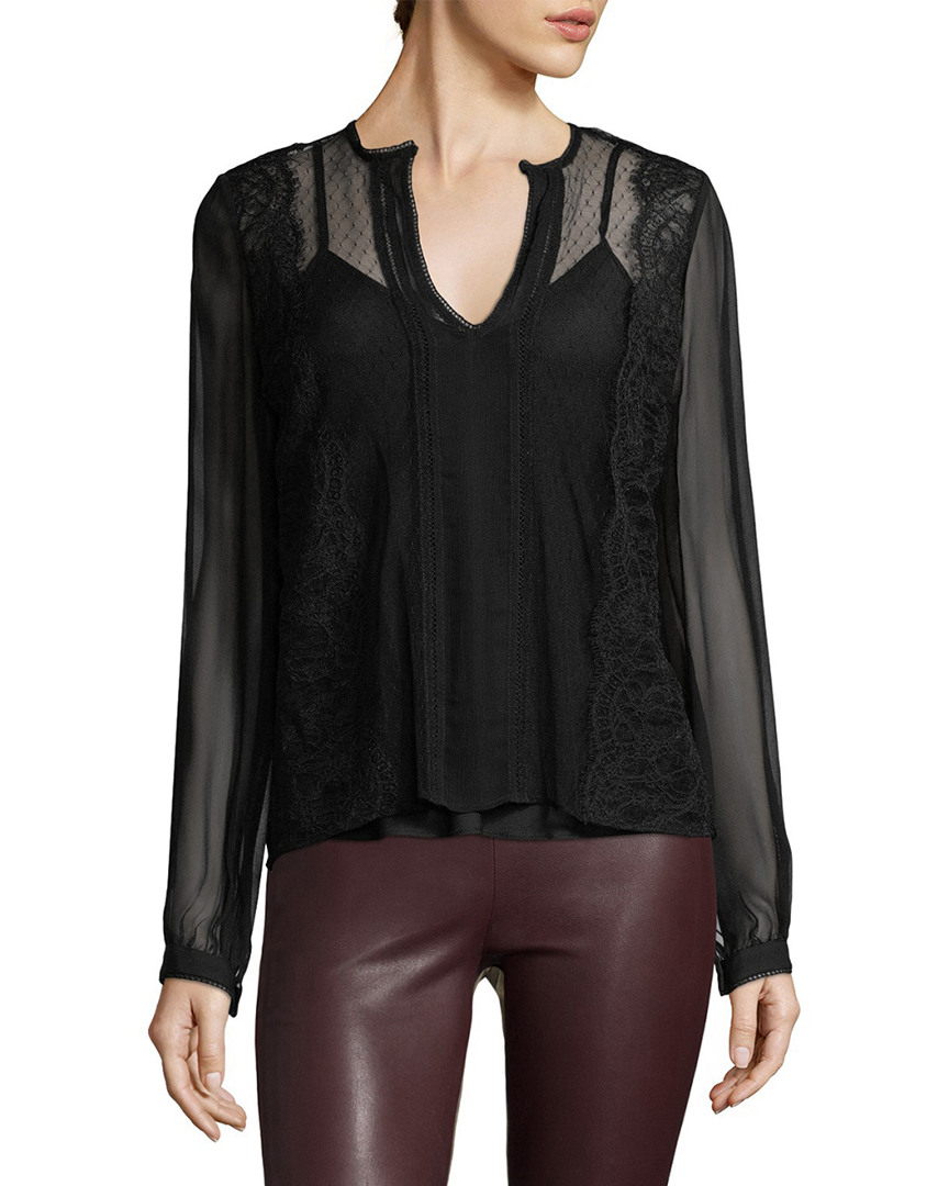 Haute Hippie LACE WIDOW BLOUSE